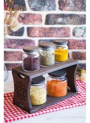 Joy Kitchen  Hıtıt 5Li Kavanoz Seti Venge Renkli - Motifli 3K2O Renkli